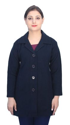 b6edd64e9c823b Romano Classy Blue Dry Winter Wool Coat Jacket for Women    Details can be  found