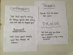 Teaching prayer:  set up 4 stations in each corner of a room, divide up people into each corner, set timer or song, and rotate until everyone goes to each corner. gather and debrief the group.