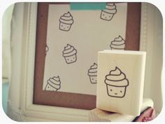 Cupcake Rubber Stamp by MelodyTheCloud on Etsy, $7.00