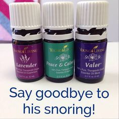 Say goodbye to snoring! Young Living essential oils, Valor, Lavender, Peace and Calming. Essential Oils For Sleep Apnea Valor Essential Oil, Vetiver Essential Oil, Essential Oils For Sleep, Young Living Essential Oils, Essential Oil Diffuser, Essential Oil Blends, Essential Oil For Snoring, Valor Young Living, Young Living Oils