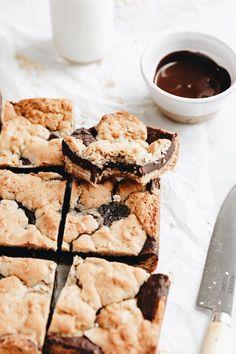 Oatmeal Fudge Bars, Best Oatmeal Cookies, Coffee Cookies, Cookie Recipes, Dessert Recipes, Bar Recipes, Diet Recipes, Broma Bakery, 16 Bars