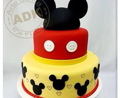 bolo do mickey Mickey 1st Birthdays, Mickey Mouse Clubhouse Party, Mickey Mouse Clubhouse Birthday, Mickey Mouse Parties, Mickey Party, Bolo Mickey E Minnie, Mickey Cakes, Mickey Mouse Cake, Bolo Do Mikey