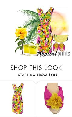 """""""Untitled #420"""" by m-jelic ❤ liked on Polyvore featuring Balenciaga, Charlotte Olympia, Kate Spade, tropicalprints and hottropics"""