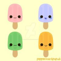 Yummy kawaii ice lollies by peppermint-pop-uk