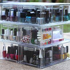 caixa de acrilico esmaltes