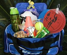 Fit & Fun Easter Basket: Keep the kids active with this sporty and healthy Fit & Fun Easter basket. Fill a duffle bag with any kind of equipment and sports accessories that your kid likes - - soccer, basketball, baseball, paddle ball,sports cones, jump rope, tennis balls, Frisbee and more! Put in healthier snacks like trail mix, granola bars or mandarin oranges. Tags: Easter Basket Ideas