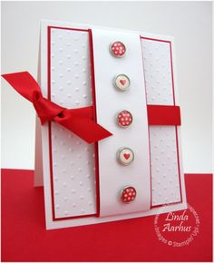 Valentine's card - could also use for a different occasion, but with different brads