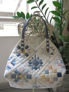 Quilted patchwork bag: