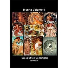 Mucha Vol 1 CD/DVD - Cross Stitch Pattern by Cross Stitch Collectibles