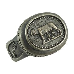 Handmade Sterling Silver Ring Roman Empire SPQR Capitoline Wolf US Sizes Custom Made with Antique/Rustic Finish all around it. * Lupa Roma *