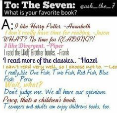 Oh Percyyyy..... and YEAH ANNABETH!! Harry potter's one of the best