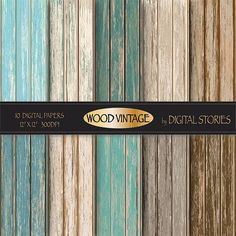 Wood digital paper WOOD DIGITAL PAPER  by DigitalStories on Etsy, €2.80