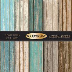 Wood digital paper WOOD DIGITAL PAPER  by DigitalStories on Etsy, €2.80