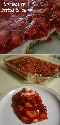 This Strawberry Pretzel Salad is a hit every time I make it. Serve this easy recipe as a dessert or even along with your favorite easy side dishes! Your guests are sure to eat it up!