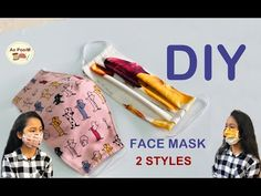 Diy Face Mask Sewing Pattern With Filter Easy Face Masks, Homemade Face Masks, Diy Face Mask, Sewing Patterns Free, Free Sewing, Free Pattern Download, Diy Couture, Diy Mask, Learn To Sew