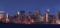 Gorgeous view of Manhattan from a Hornblower dinner cruise.