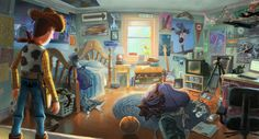 Concept art by Glenn Kim from The Art of Toy Story 3