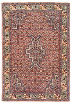 "3'8"" x 5'3"" PERSIAN SENNEH KURDISTAN Tribal Hand Knotted Wool RUST Oriental Rug #PersianSennehKurdistanTribal"