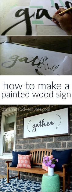 Great DIY tutorial for how to make a large painted wood sign - NO special tools required! Anyone could make this project!