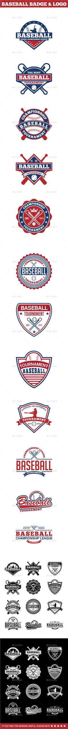Baseball Badge & Logo #design Download: http://graphicriver.net/item/baseball-badge-logo-2/12601454?ref=ksioks