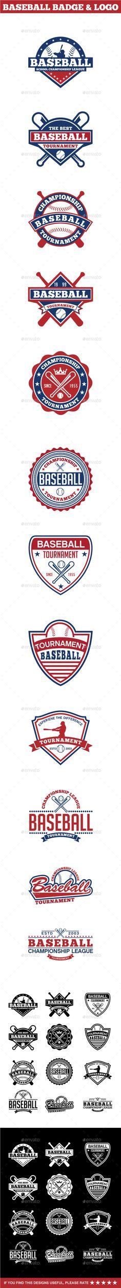 Baseball Badge & Logo #design Download: http://graphicriver.net/item/baseball-badge-logo-2/12601454?ref=ksioks