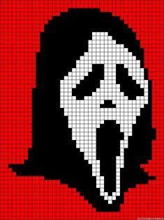ghostface scream cross stitch - Google Search