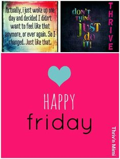 Thriv'n & loving it! Happy Friday! Make today count! More energy. Restful sleep. Financial freedom. Work from home. Just like that! https://3stepsanddone.Le-Vel.com