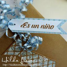 Hilda Designs: Blog Hop Bienvenido Bebe en SDS,  sentimiento sellito de Latina Crafter