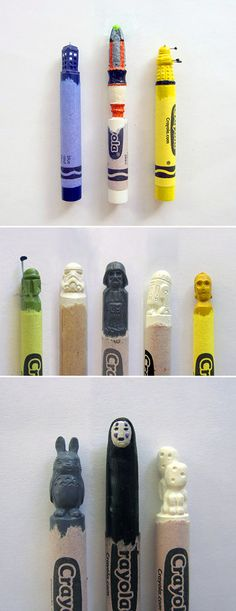 22 Mind-Blowing Sculptures Carved Directly Into Crayons - TechEBlog