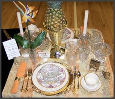 Table setting for Glass Show