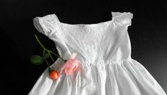 Antique Ayrshire Christening Gown from FRENCH VINTAGE LINENS AND ANTIQUES