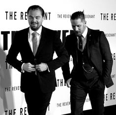 "Tom Hardy with Leo DiCaprio at the world premiere of ""The Revenant"" - L.A.,  December 16th 2015"