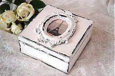 Krabičky - Shabby chic šperkovnička, krabička - 3642709