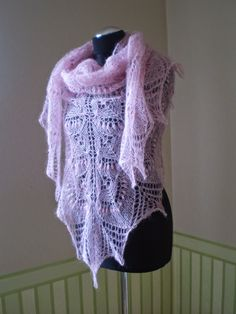 KnitANDlace - knitted kid mohair lace shawl