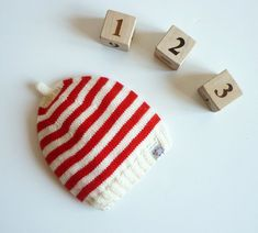 Hand knitted baby hat / knit baby hat / от PetitMoutonFrancais