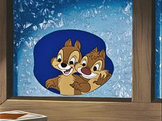 Walt-Disney-Screencaps-Chip-n-Dale Chip and Dale looking inside from the cold