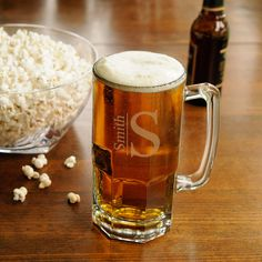 Etsy Personalized 32 oz. Monster Beer Mug - Personalized Large Beer Mug - Beer mug for Groomsmen Gifts - #mugs