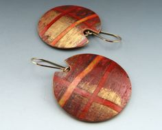Landscape Earrings. Polymer clay. By Stonehouse Studio