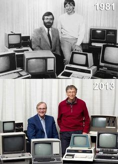 Bill Gates and Paul Allen - I am Programmer Do Programming (✔) Learn Programming (✔) Teach Programming (✔) Computer Technology, Computer Science, Science And Technology, Top Computer, Technology Updates, Bill Gates Steve Jobs, Computer Hardware, Retro Design, Cool Pictures