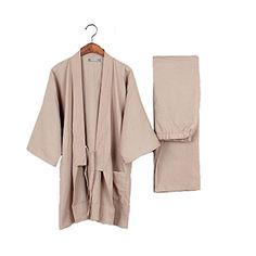 Tracksuit Men's Kimono Loose Breathable Cotton Double Gau...