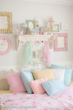 I love the pastels of this room!