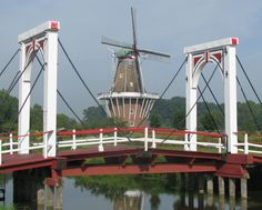 DeZwaan in Holland, Michigan is the only authentic,  working Dutch windmill in the United States! The city of Holland was founded by Dutch settlers nostalgic for their homeland.