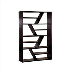 With a zig-zag design, the sleek shelf lends dramatic style to the room, whether you are shelving books or displaying art and keepsakes.