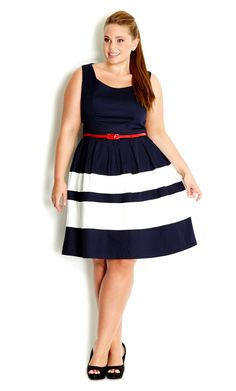 City Chic - LAND LOVER DRESS  - Women's Plus Size Fashion