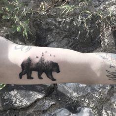 Bear #beartattoo #dotwork #blackwork #tattoos #xbariskaya