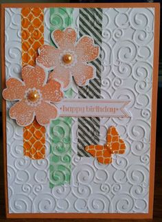 Stampin Up Flower Shop Pansies set - inspired by a card on Visit thestampcamp.com