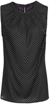 ShopStyle.co.uk: Mango Pleated neck polka-dot top £24.99