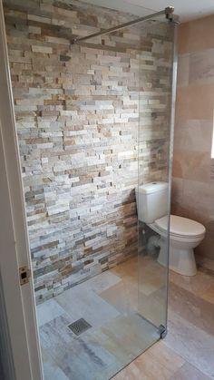 Oyster Random Beige Slate Split Face Cladding Mosaic Tiles for Wall - Slate Bathroom, Modern Bathroom, Stone Bathroom Tiles, Slate Shower Tile, Slate Wall Tiles, Stone Shower, Mosaic Bathroom, Ikea Bathroom, Bathroom Cladding