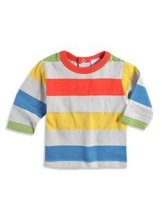 Pumpkin Patch - tees - long sleeve multi stripe tee - W3CM12001 - stone - 0-3mths to 2