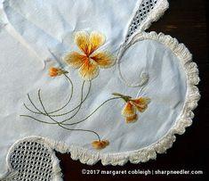 Thread painted nasturtiums ala Society Silk.  Beautifully stitched.